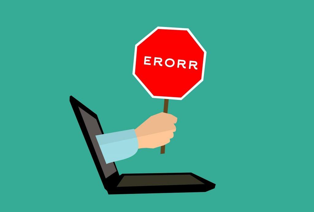Error informatico